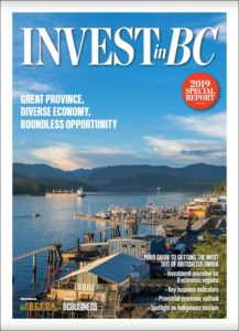 Cover from Invest in BC - Lower Mainland-Southwest - BCBusiness -2019