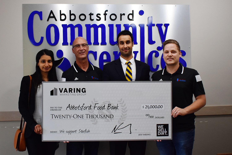 Abbotsford Food Bank and Varing Donation